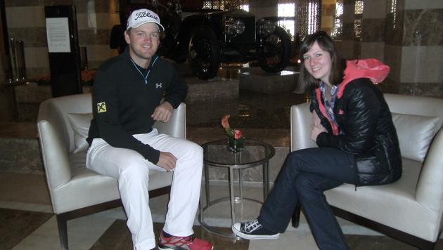 Redakteurin Stefanie Riegler traf Bernd Wiesberger im St. Regis Hotel in Doha. (Bild: Stefanie Riegler)