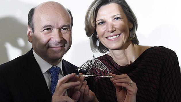Dominique Meyer und Desiree Treichl-Stürgkh (Bild: APA/HELMUT FOHRINGER)