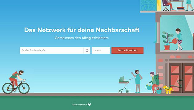 """Frag nebenan"": Nachbar-Netzwerk in Wien gestartet (Bild: fragnebenan.com)"