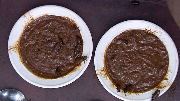 Auch diese Speise schaut nicht allzu appetitlich aus... (Bild: RTL/Stefan Menne)