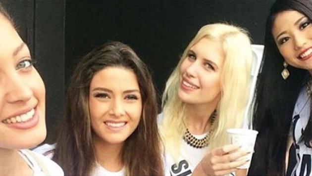 """Dieses Foto mit """"Miss Israel"""" (ganz links) und """"Miss Libanon"""" (2. von links) erzürnt die Libanesen. (Bild: Instagram.com/Doron Matalon)"""