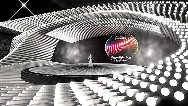 Die Song-Contest-Bühne (Bild: APA/ORF)