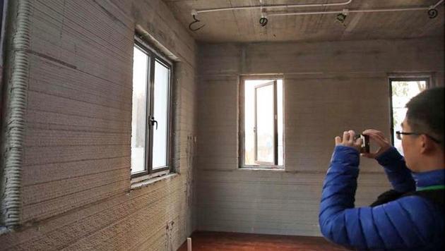 Bei genauer Betrachtung der Wände erkennt man, dass sie Schicht für Schicht gefertigt wurden. (Bild: caixin.com)