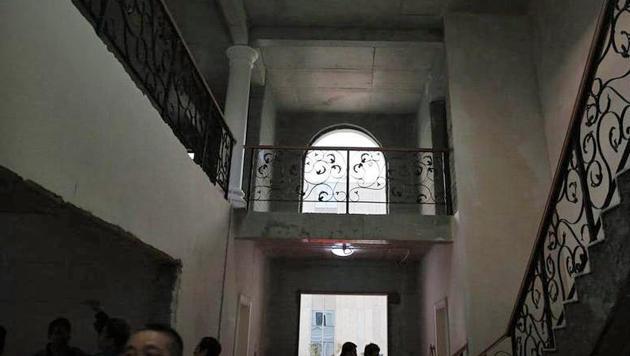 """Das Innere der """"gedruckten"""" Villa (Bild: caixin.com)"""