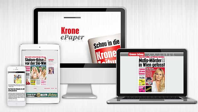 """Erfolg: """"Krone"""" auch als ePaper top! (Bild: krone.at-Grafik)"""
