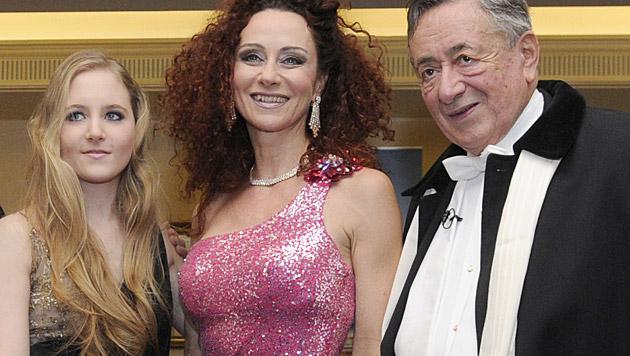 """Richard und """"Mausi"""" Lugner mit Tochter Jacqueline (Bild: APA)"""