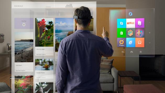 HoloLens: So fühlt sich Microsofts Cyberbrille an (Bild: Microsoft)