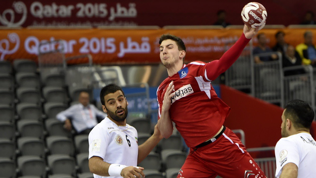 Kantersieg gegen Iran! ÖHB-Herren im Achtelfinale (Bild: APA/Qatar 2015 via epa/Gjorgji Licovski)