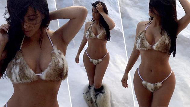 Kim Kardashian bringt den Schnee zum Schmelzen (Bild: instagram.com/kimkardashian)