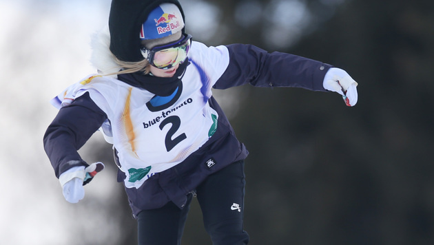 Silber! Anna Gasser Slopestyle-Vize-Weltmeisterin (Bild: APA/BARBARA GINDL)