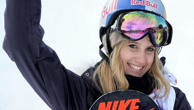Silber! Anna Gasser Slopestyle-Vize-Weltmeisterin (Bild: APA/EPA/BARBARA GINDL)