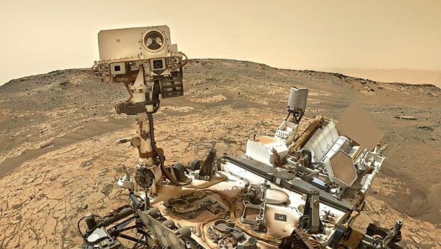 """Ein im Jänner entstandenes Selfie von """"Curiosity"""" (Bild: NASA/JPL-Caltech/MSSS/Jason Major)"""