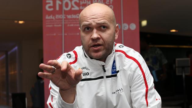 """Johannesson: """"Spieler leisten Unglaubliches"""" (Bild: GEPA)"""