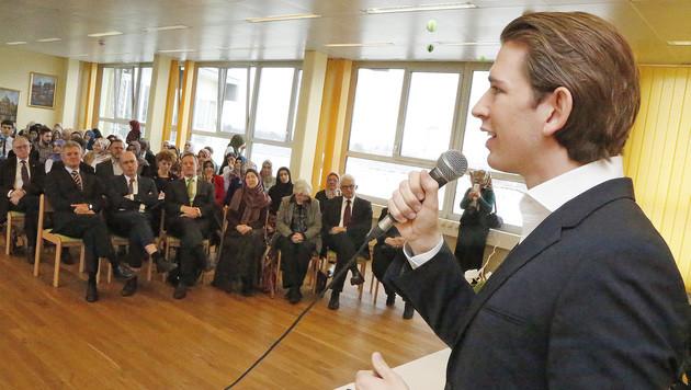 Außenminister Sebastian Kurz besuchte die Wiener Privatschule für Islam-Religionslehrer. (Bild: Martin A. Jöchl)