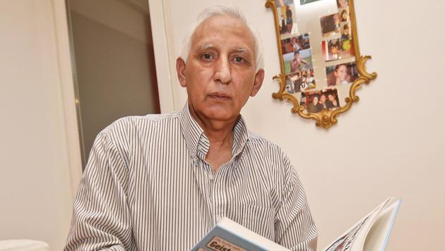 Mohamed Rathore überstand den Unfall mit schweren Prellungen. (Bild: MARKUS TSCHEPP)