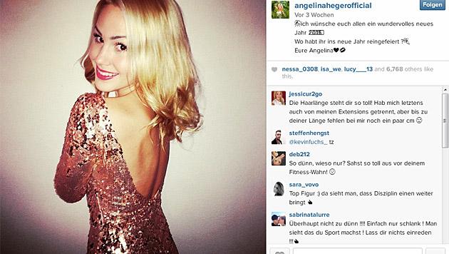 Ihre Fans lieben die süße Blondine. (Bild: instagram.com/angelinahegerofficial)
