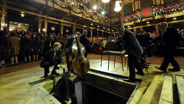 Die Musiker beim Philharmonikerball (Bild: APA/HERBERT PFARRHOFER)