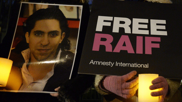 Der Fall des Bloggers Raif Badawi sorgte weltweit für Aufsehen. (Bild: EPA)