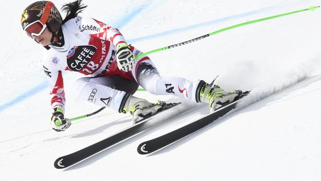 Anna Fenninger stark! Nur Lara Gut schneller (Bild: APA/EPA/GIAN EHRENZELLER)