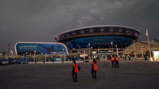 In der Ali Bin Hamad Al Attiya Arena (Al Sadd) bestritten die Österreicher ihre Gruppenspiele. (Bild: GEPA)