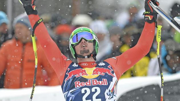 Hauchdünn am Sieg vorbei: Dominik Paris wurde Zweiter. (Bild: APA/EPA/HERBERT NEUBAUER)