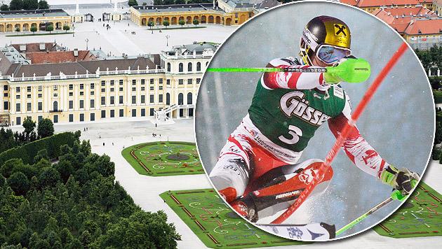 Schönbrunn bekommt jetzt doch den Parallelslalom! (Bild: APA/EPA/ROBERT JÄGER)