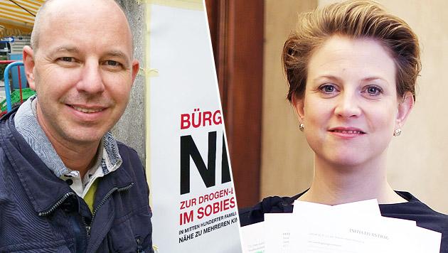Hendrik Dekkers von der Sobieski-Initiative und NEOS-Obfrau Beate Meinl-Reisinger (Bild: Zauner,Gerhard Bartel)