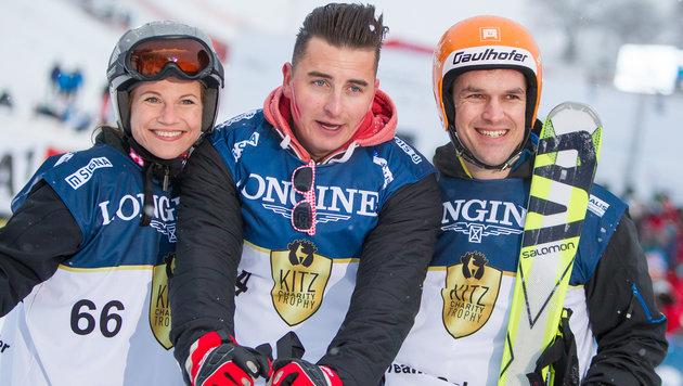 Christina Sprenger, Andreas Gabalier und Matthias Lanzinger (Bild: APA/EXPA/JFK)