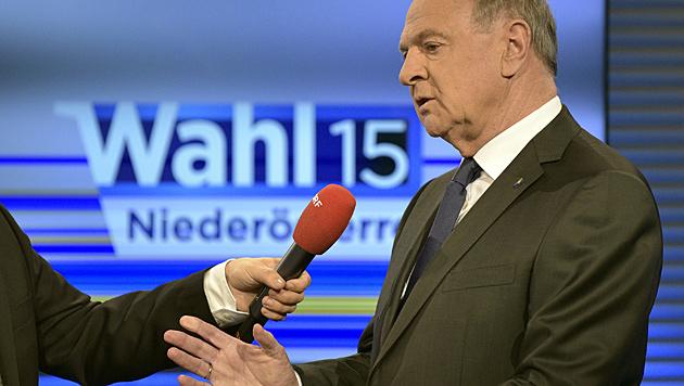 """Pröll: """"In Zeiten wie diesen sind Ergebnisse um 50 Prozent keine Selbstverständlichkeit."""" (Bild: APA/Hans Punz)"""