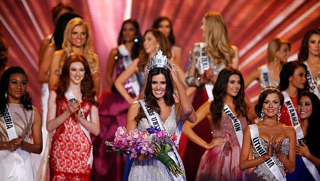 "22-jährige Kolumbianerin ist ""Miss Universe"" (Bild: APA/EPA/RHONA WISE)"