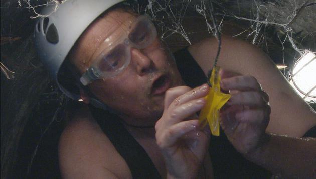 Rolfe Scheider bei seiner ersten Dschungelprüfung. (Bild: RTL)
