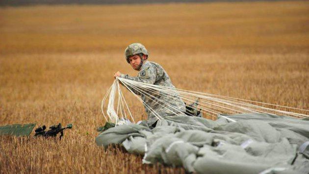 Fallschirmj�ger der 173. Luftlandebrigade nach einer erfolgreichen Landung (Bild: Facebook.com/173rd Airborne Brigade)