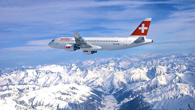 """""""Gewalttätige"""" Tirolerin im Flugzeug gefesselt (Bild: Swiss International Air Lines (Symbolbild))"""