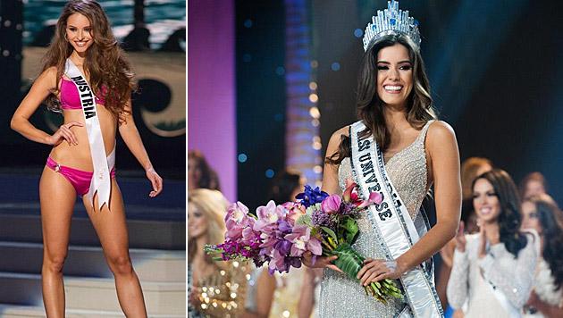 Die Enttäuschung über den verpassten Final-Einzug ist bei Julia Furdea groß. (Bild: Miss Universe)