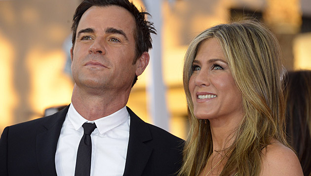 Justin Theroux und Jennifer Aniston (Bild: APA/EPA/PAUL BUCK)