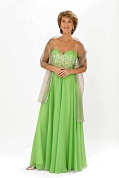 Barbara Rett in einem grünen Seidenkleid (Bild: ORF/Thomas Ramstorfer)