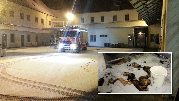 Wäsche entzündete sich selbst - Brand in Gefängnis (Bild: FF Garsten)
