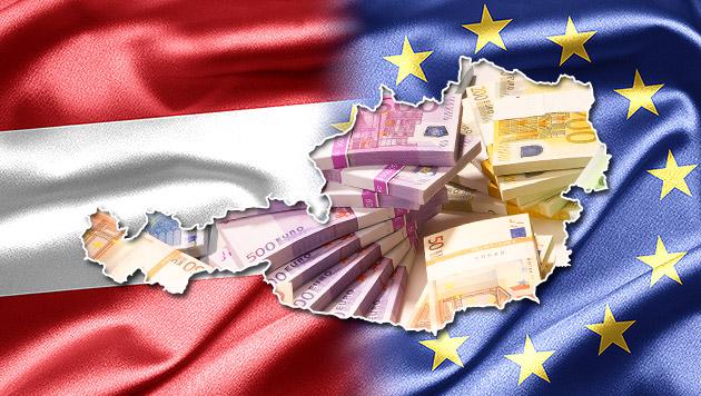 Österreich im Klub der Milliarden-Nettozahler (Bild: thinkstockphotos.de, krone.at-Grafik)