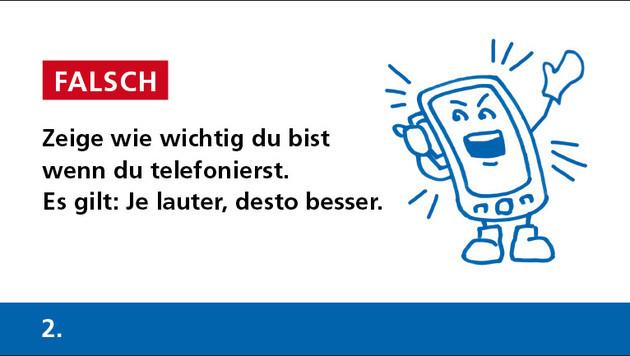 Geht gar nicht: Die zehn schlimmsten Handy-Sünden (Bild: fmk.at)