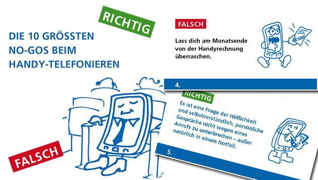 Geht gar nicht: Die zehn schlimmsten Handy-Sünden (Bild: www.fmk.at)