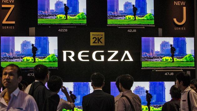 Toshiba zieht sich aus Fernsehergeschäft zurück (Bild: APA/EPA/CHRISTOPHER JUE)