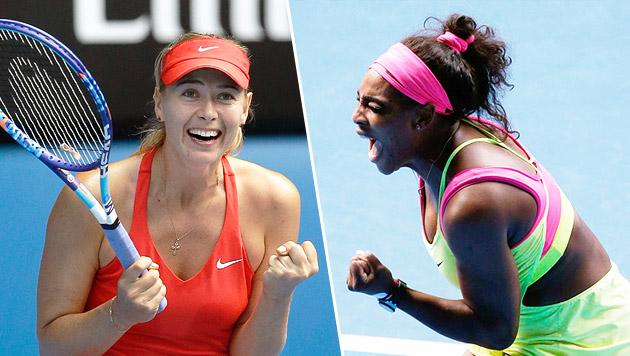 Traumfinale Williams gegen Scharapowa perfekt (Bild: AP)