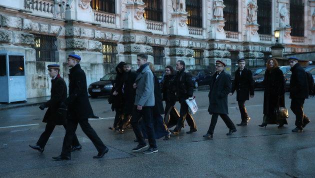 Akademikerball: Polizei sichert Beweise per Video (Bild: Peter Tomschi)