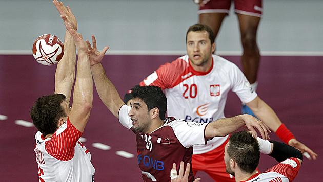 31:29 gegen Polen: ÖHB-Albtraum Katar im Finale (Bild: APA/Qatar 2015 via epa/Robert Ghement)