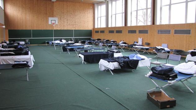 Der Turnsaal der Landespolizeidirektion Graz (Bild: Krone)