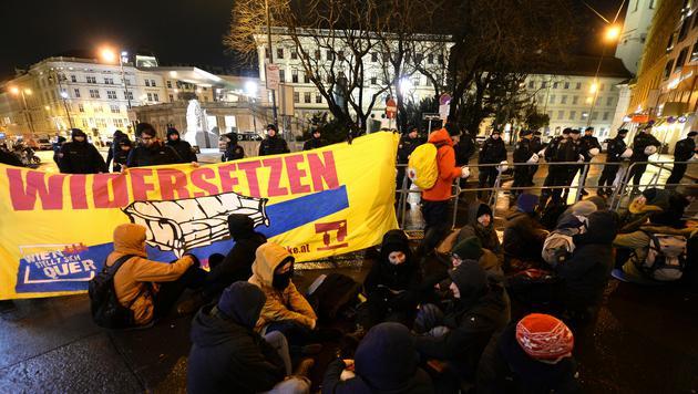 Alle Bilder der Protestaktionen in Wien (Bild: ROLAND SCHLAGER)