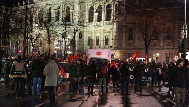 Alle Bilder der Protestaktionen in Wien (Bild: reporter.co.at)
