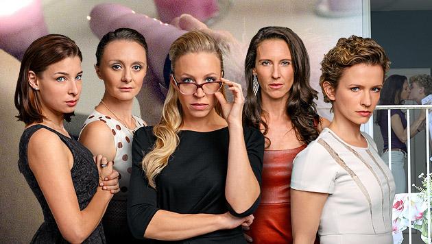 """Die """"Vorstadtweiber"""": Caro, Maria, Nicoletta, Walli und Sabine (Bild: ORF)"""