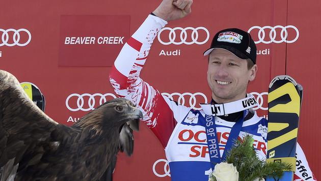 Hannes Reichelt nach seinem Super-G-Sieg im vergangenen Dezember. (Bild: APA/EPA/JOHN G. MABANGLO)
