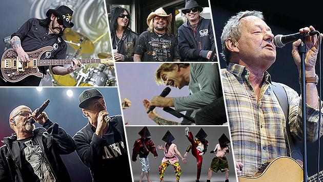 Wolfgang Ambros ist Late-Night-Act am Nova Rock! (Bild: Radspieler, Universal Music, EPA/ARMER, EPA/BALK, AFP, OCZERET)